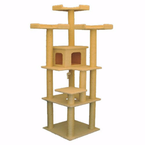 Majestic 80 Inch Bungalow Cat Tree - BD Luxe Dogs & Supplies