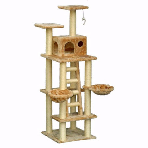 Majestic 72 Inch Casita Cat Tree - BD Luxe Dogs & Supplies