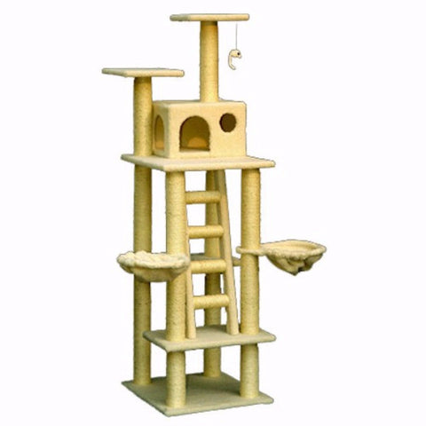 Majestic 72 Inch Bungalow Cat Tree - BD Luxe Dogs & Supplies