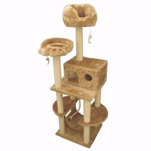 Majestic 76 Inch Casita Cat Tree - BD Luxe Dogs & Supplies