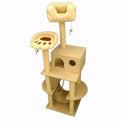 Majestic 76 Inch Bungalow Cat Tree - BD Luxe Dogs & Supplies