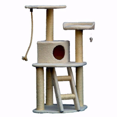 Majestic 48 Inch Bungalow Cat Tree - BD Luxe Dogs & Supplies