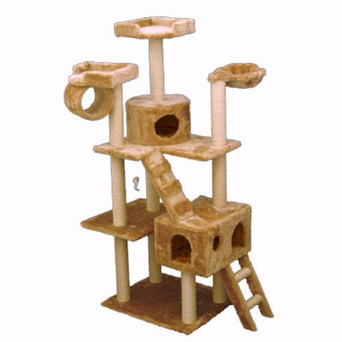 Majestic 73 Inch Casita Cat Tree - BD Luxe Dogs & Supplies