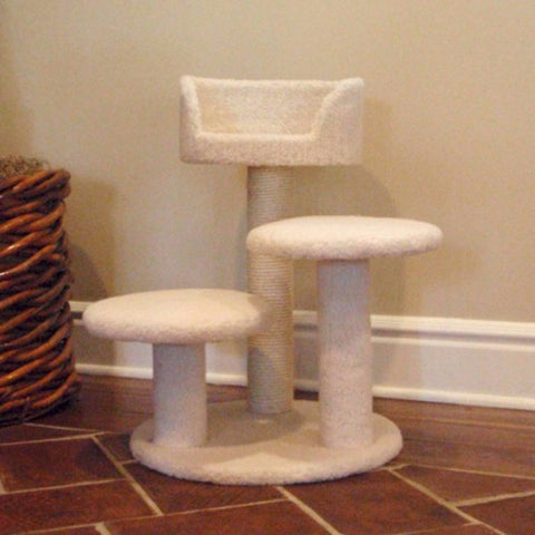 Majestic 27 Inch Bungalow Cat Tree - BD Luxe Dogs & Supplies