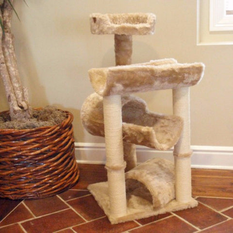Majestic 44 Inch Casita Cat Tree - BD Luxe Dogs & Supplies