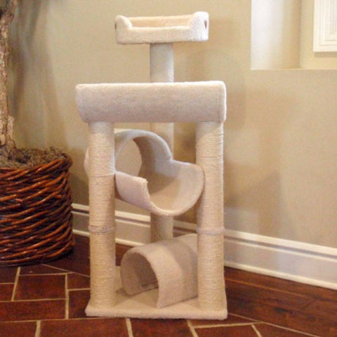 Majestic 44 Inch Bungalow Cat Tree - BD Luxe Dogs & Supplies