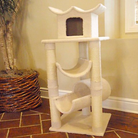 Majestic 47 Inch Bungalow Cat Tree - BD Luxe Dogs & Supplies