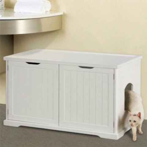 Cat Washroom Litter Box Cover - BD Luxe Dogs & Supplies
