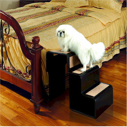 Easy Step II Extra Wide Pet Stairs - Tan - BD Luxe Dogs & Supplies
