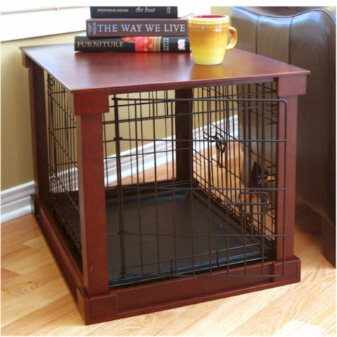 Dog Crate With Wooden Cover - Small - BD Luxe Dogs & Supplies