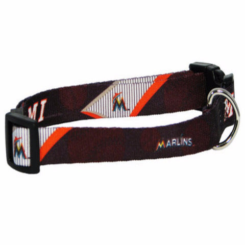 Miami Marlins Dog Collar - BD Luxe Dogs & Supplies