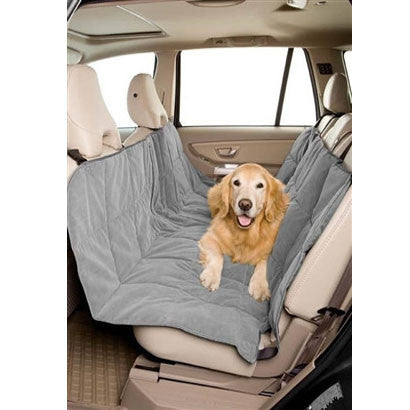 "Micro Velvet Hammock Pet Dog Car Seat Covers - Slate or Sand 57"" w x 56"" long - BD Luxe Dogs & Supplies - 1"
