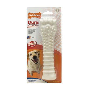 NYLABONE DURABLE CHEW BONE CHICKEN SOUPER - BD Luxe Dogs & Supplies