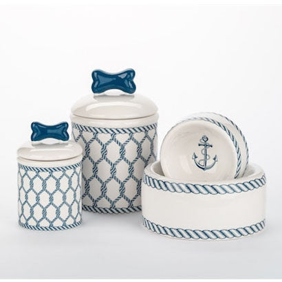 Nautical Bowls and Treat Jars Collection - BD Luxe Dogs & Supplies - 1