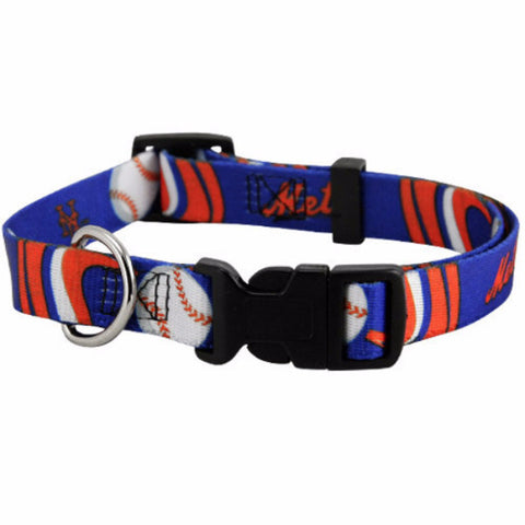 New York Mets Dog Collar - BD Luxe Dogs & Supplies
