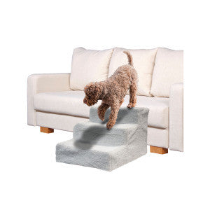 Pet Stairs with Sheepskin-Style Cover