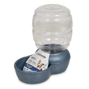 PETMATE REPLENISH 2.5 GALLON BLUE PET WATERER WITH MICROBAN - BD Luxe Dogs & Supplies