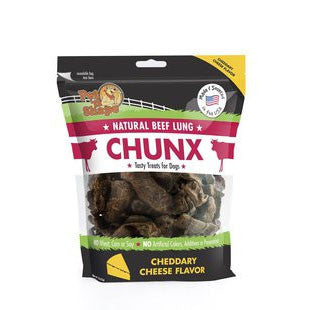 PET N SHAPE CHUNX CHEESE FLAVOR BEEF LUNG 1LB - BD Luxe Dogs & Supplies - 1