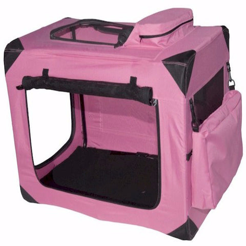 Generation II Deluxe Portable Soft Crate - Small/Pink - BD Luxe Dogs & Supplies