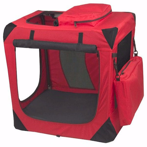 Generation II Deluxe Portable Soft Crate - Small/Red - BD Luxe Dogs & Supplies