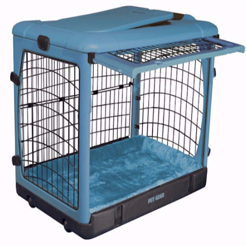 Deluxe Steel Dog Crate with Bolster Pad - Small - BD Luxe Dogs & Supplies