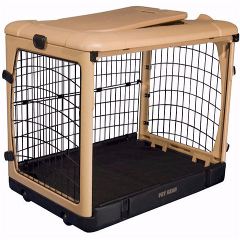 Deluxe Steel Dog Crate with Bolster Pad - Large - BD Luxe Dogs & Supplies