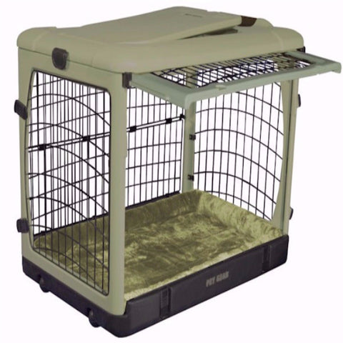 Deluxe Steel Dog Crate with Bolster Pad - Medium - BD Luxe Dogs & Supplies