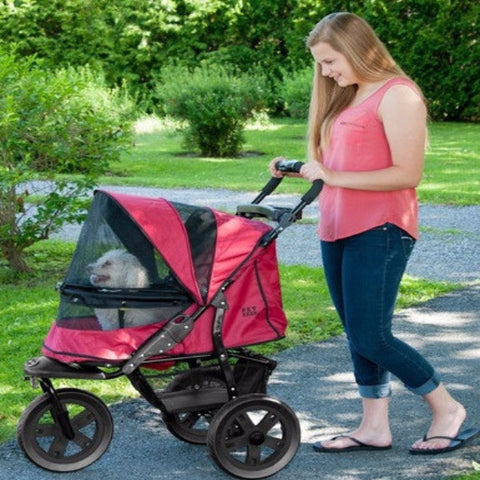 AT3 No-Zip Pet Stroller - Rugged Red - BD Luxe Dogs & Supplies