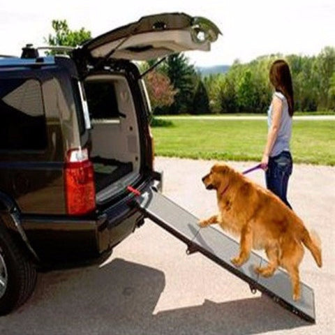 Carpeted Tri-Fold Pet Ramp - BD Luxe Dogs & Supplies