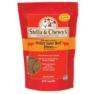 STELLA AND CHEWYS BEEF FREEZE DRIED RAW DOG DINNER 16OZ - BD Luxe Dogs & Supplies