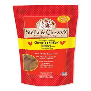 STELLA AND CHEWYS CHICKEN FREEZE DRIED RAW DOG DINNER 16OZ - BD Luxe Dogs & Supplies