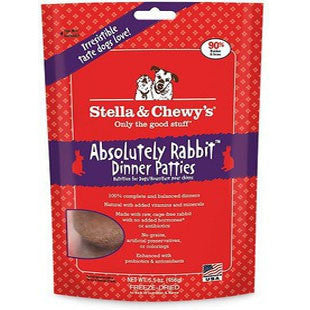 STELLA & CHEWY ABSOLUTELY RABBIT DINNER PATTIES - BD Luxe Dogs & Supplies