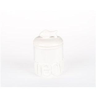 Small Meow Ceramic Treat Jars - BD Luxe Dogs & Supplies