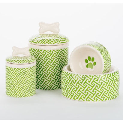 Trellis Bowls & Treat Jars Collection - BD Luxe Dogs & Supplies - 1