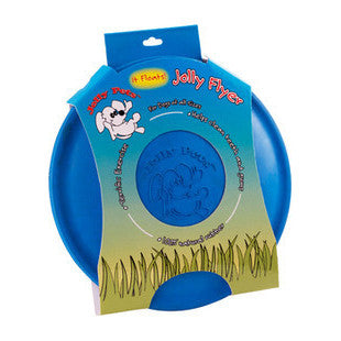 JOLLY FLYER 7.5 INCH BLUE RUBBER DOG FRISBEE - BD Luxe Dogs & Supplies - 1