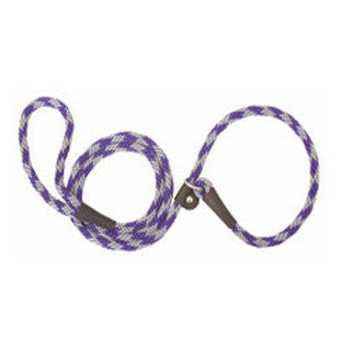 AMETHYST DIAMOND SMALL MENDOTA BRITISH STYLE SLIP LEAD 3/8 X 4 FT - BD Luxe Dogs & Supplies - 1