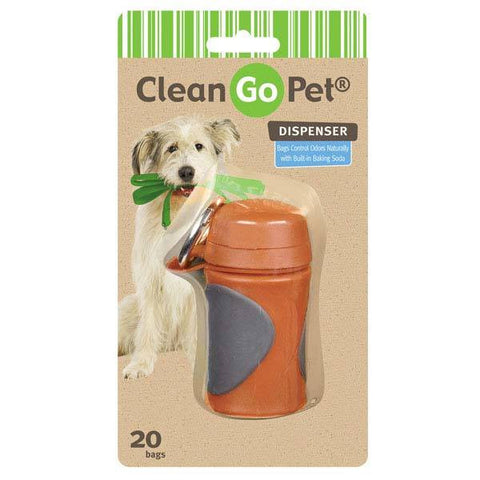 AXIS ORANGE CLEAN GO PET WASTE BAG HOLDER WITH BAGS
