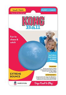 KONG PUPPY BALL WITH HOLE SMALL DOG TOY