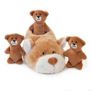 ZIPPY PAWS SLIPPER NEST BEAR PUZZLE TOY - BD Luxe Dogs & Supplies - 1