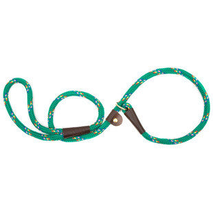 KELLY GREEN CONFETTI LARGE MENDOTA BRITISH STYLE SLIP LEAD 1/2 X 6 FT - BD Luxe Dogs & Supplies