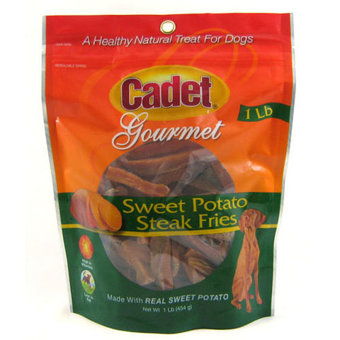 CADET SWEET POTATO STEAK FRIES DOG TREATS 1 POUND