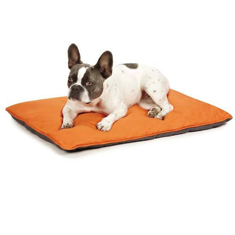 INSECT SHIELD REVERSIBLE DOG BED ORANGE GRAY MEDIUM 29 INCH - BD Luxe Dogs & Supplies - 1
