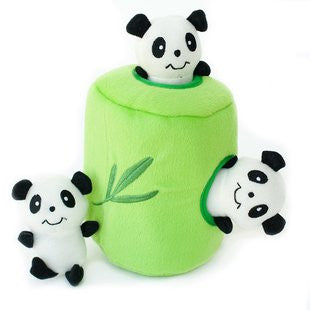 ZIPPY PAWS BURROWS PANDA AND BAMBOO PUZZLE TOY - BD Luxe Dogs & Supplies