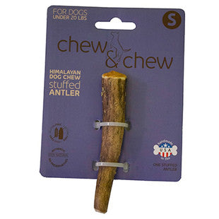 HIMALAYAN CHEW AND CHEW STUFFED ANTLER SMALL DOG TREAT - BD Luxe Dogs & Supplies