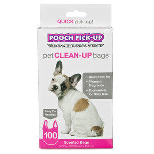 OUTWARD HOUND POOCH PICK UP PINK SCENTED WASTE BAGS 100CT - BD Luxe Dogs & Supplies