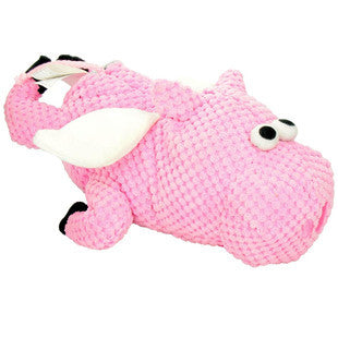 GO DOG LARGE PINK CHECKERED PIG WITH CHEWGUARD TECHNOLOGY - BD Luxe Dogs & Supplies