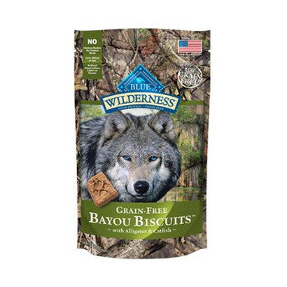 BLUE BUFFALO WILDERNESS BAYOU BLEND ALLIGATOR CATFISH BISCUITS 8OZ - BD Luxe Dogs & Supplies - 1