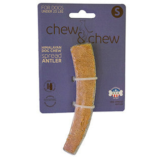 HIMALAYAN CHEW AND CHEW SPREAD ANTLER SMALL DOG TREAT - BD Luxe Dogs & Supplies