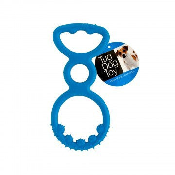 7.5 INCH RUBBER PULL TUG ECONOMY DOG TOY