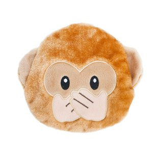 ZIPPY PAWS SQUEAKIE EMOJIZ SPEAK NO EVIL MONKEY PLUSH TOY - BD Luxe Dogs & Supplies - 1